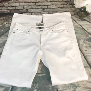 Lucky Brand Sweet & Low Straight Leg White Jeans